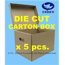 "CARTON BOX DIE-CUT x 5pcs. PROMO 16½"" x 13"" x 11"" Ht Storage SW116"