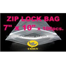 "ZIP LOCK BAG 7"" x 10"" x 100 pcs. ONLINE PROMO Resealable Plastic Bags"