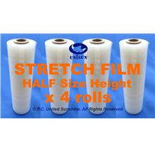 x 4 ROLLS STRETCH FILM Half-size 250mm x 240m L ONLINE PROMO SmallCore