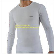 Lonsdale shirt Body Fit Long Sleeve White X 2 (UK) (Fitness Gym Sport)