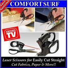 Stainless Steel Blade Laser Scissor for Cut Straight Cloth, Paper