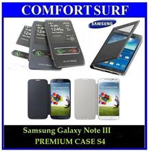 Galaxy Note III / S4 S View Flip OEM Case + Screen Protector Samsung