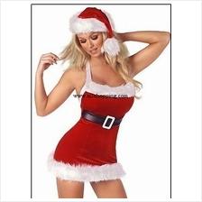 Halter style dress pop three-piece Christmas 03767