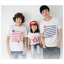 Star Design Family/Couple  Short Sleeves T-shirt