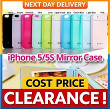 iPhone 5 5S SE ZENUS Mirror Back Case with Card Holder Cover Casing