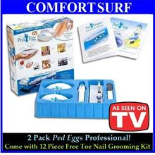 Offer! Complete 18 Pcs Set of Ped Egg included Free Toe Nail Kit