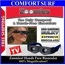 As Seen on TV Zoomies Hands Free Binocular wf 400% magnification