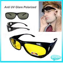 Prado Anti UV Glare Polarized Fit Over HD Car Sunglasses Unisex