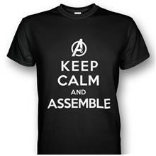 Avengers Keep Calm and Assemble Black T-shirt