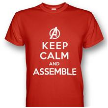 Avengers Keep Calm and Assemble Red T-shirt