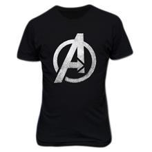 Avengers Logo T-shirt Giltter Silver
