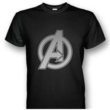 Avengers Logo T-shirt Silver