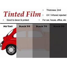 Black Coated Window Tinted Film