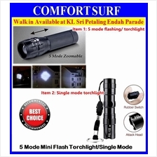 Mini 5 Mode or 1Mode Zoomable Torchlight Flashlight 3 Light Functions