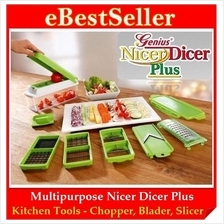 FREE TWO GIFTS + Multipurpose Nicer Dicer Plus Chopper Slicer