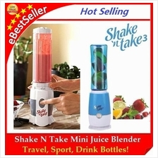 FREE GIFT+ Shake N Take Mini Juice & Fruit Blender Travel Sport Bottle