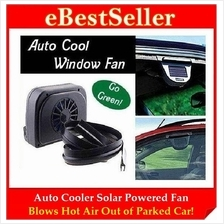 Auto Cool Solar Powered Fan Ventilation System Car Cooler BUY 1 FREE 1
