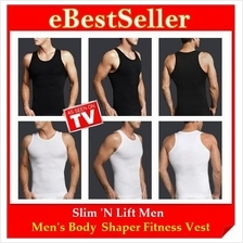 Limited Offer! Men Body Fit Shaper Vest Slim N Lift Singlet Fit Shirt)
