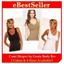 Women Cami Shaper by Genie Body Bra Instant Slim! 3 Colors & 4 Sizes