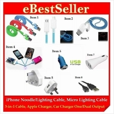 Offer i5 Micro USB Lighting Cable Car Charger iPhone iPad Samsung