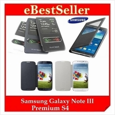 Free SP Samsung Galaxy Note III / S4 OEM S View Flip Cover Casing