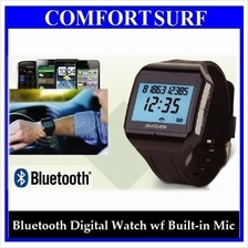 Bluetooth Digital Wrist Watch + Built-in Mic Time Display Receive Call