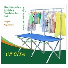 Multi-function Foldable combination table rak 2 meter Canvas cloth