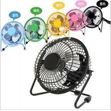 Mini USB Fan Super Mute Metal Fan 4inch Table Desktop Laptop Fan