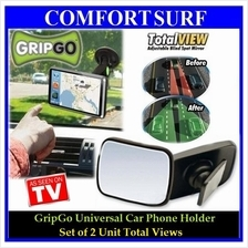 Combo Grip Go Car Phone Holder + 2 Unit Total View Mirror + FREE GIFT