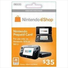 Nintendo Prepaid Card eShop US USD35 (get within 2 working hours)