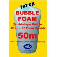 BUBBLE-FOAM HYBRID (Double-Bubble Wrap+PE Foam) 1m x 50m ONLINE PROMO