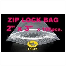 "ZIP LOCK BAG 2"" x 3"" x 100 pcs. ONLINE PROMO Resealable PP Plastic Bag"