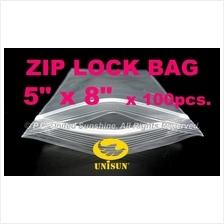 "ZIP LOCK BAG 5"" x 8"" x 100 pcs. ONLINE PROMO Resealable PP Plastic Bag"