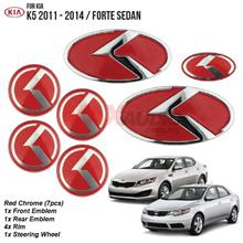 KIA FORTE Sedan, OPTIMA K5 2011 - 2014 3D K-Logo Emblem Badge (7pcs)