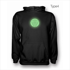 Iron Man Arc Reactor Glows In The Dark Hooded Sweatshirt Hoodie