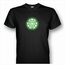 Iron Man Arc Reactor Mark VI Glows In The Dark T-shirt