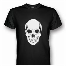 Skull Head Print Black T-shirt