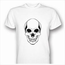 Skull Head Print White T-shirt