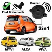 PERODUA MYVI, VIVA & ALZA 2 in 1 Alarm Buzzer Siren & Foot Brake Lock