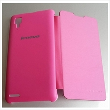 pink Thin flip case cover for lenovo P780