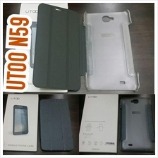 original Utoo N59 leather flip case option screen protector