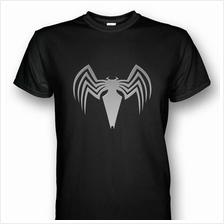 Spiderman Venom Symbol T-shirt Silver Print