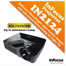 InFocus IN2124A Projector Delivers Ultra-bright 3200 Lumen Images