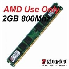 2GB Kingston Desktop PC DDR2 RAM 800Mhz PC-6400 KVR800D2N6/2G for AMD