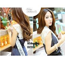Korean elastic lady sweet temperament Slim dress gown03270