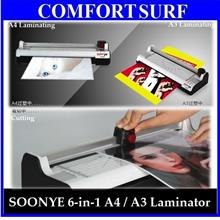 6-in-1 SOONYE A4 / A3 Laminator Laminate Cut Trimmer Corner Rounder