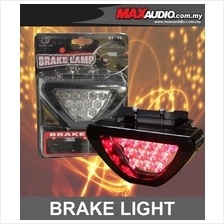 NEW F1 Style Triangle 12 RED LED Flashing 3rd Brake Lamp Light
