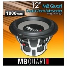 MB QUART PREMIUM PWH 304 12' 500W RMS 4 Ohm DVC Subwoofer