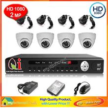 CCTV 4-CH Hybrid A-HD DVR Recorder with Infra Red Dome Camera System