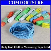 BUY 1 FREE 1 Body Diet Clothes Measuring Ruler Tape 150cm